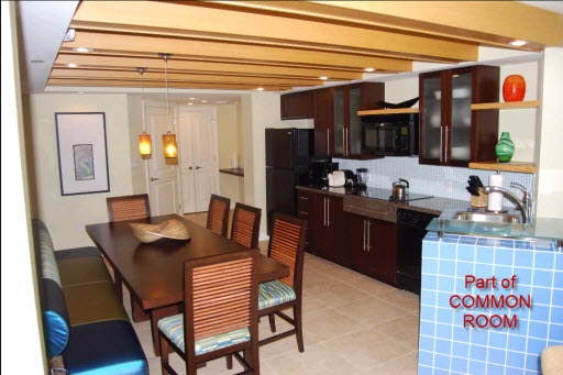 Dining and kitchen area, three bedroom Bay Vista villa, Westin St John Resort