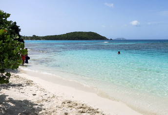 Beach on the North shore of St John USVI