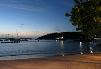 Cruz Bay Beach sunset, St John USVI