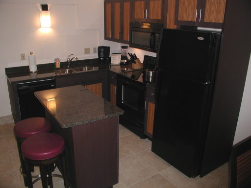 Kitchen area, one bedroom condo, Westin St John Resort