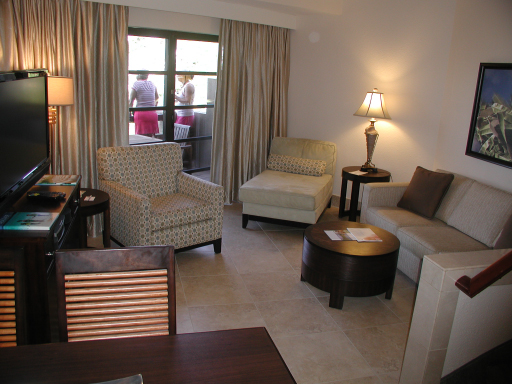 Living area, one bedroom condo, Westin St John Resort
