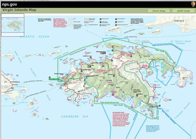Link to the US Virgin Islands Park Service map