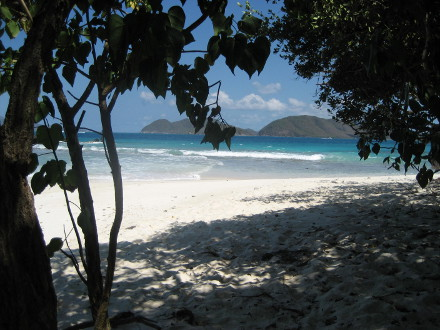 A North shore beach on St John