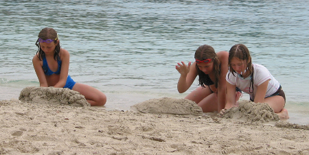 Building sand castles on St John USVI
