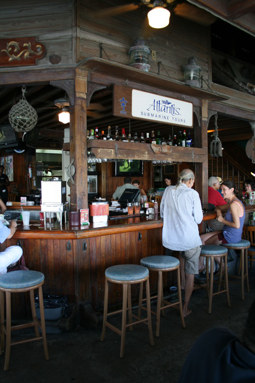 Tickles Bar at the Crown Bay Marina on St Thomas