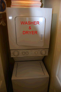 Combo washer and dryer unit in the Bay Vista villas, Westin St John Resort